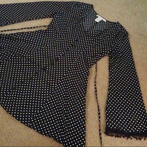 American Rag bell sleeve polka dot mini dress